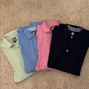 Four Men's golf polos